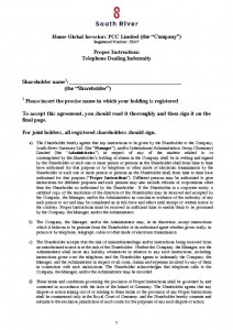 thumbnail of telephone dealing indemnity